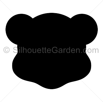 Bear head silhouette clipart image Pin by Muse Printables on Silhouette Clip Art at SilhouetteGarden ... image