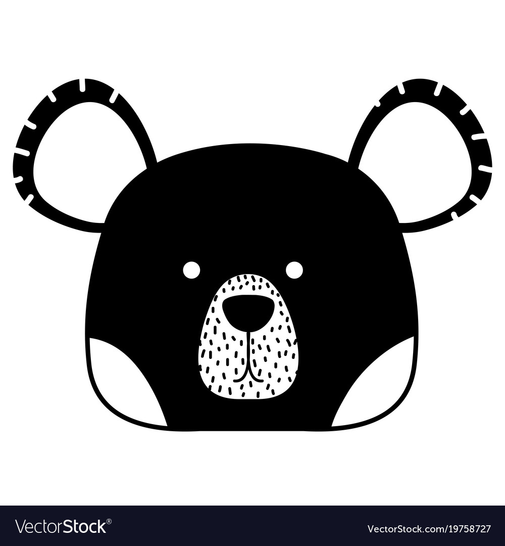 Bear head silhouette clipart svg transparent Silhouette cute bear head wild animal svg transparent