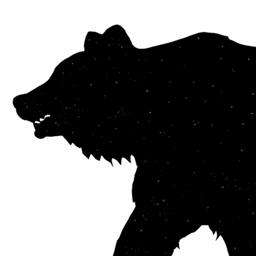 Bear head silhouette clipart black and white download Download grizzly bear head silhouette clipart Grizzly bear Giant panda black and white download