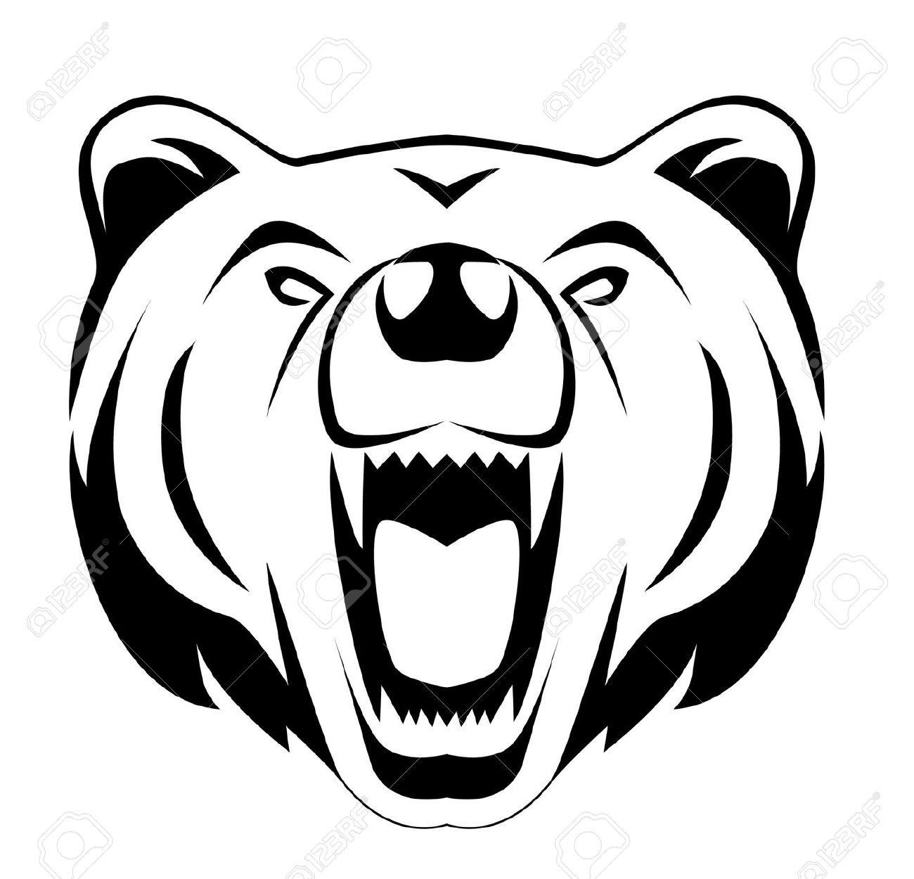 Bear head silhouette clipart banner freeuse download Bear Head Cliparts | Free download best Bear Head Cliparts on ... banner freeuse download