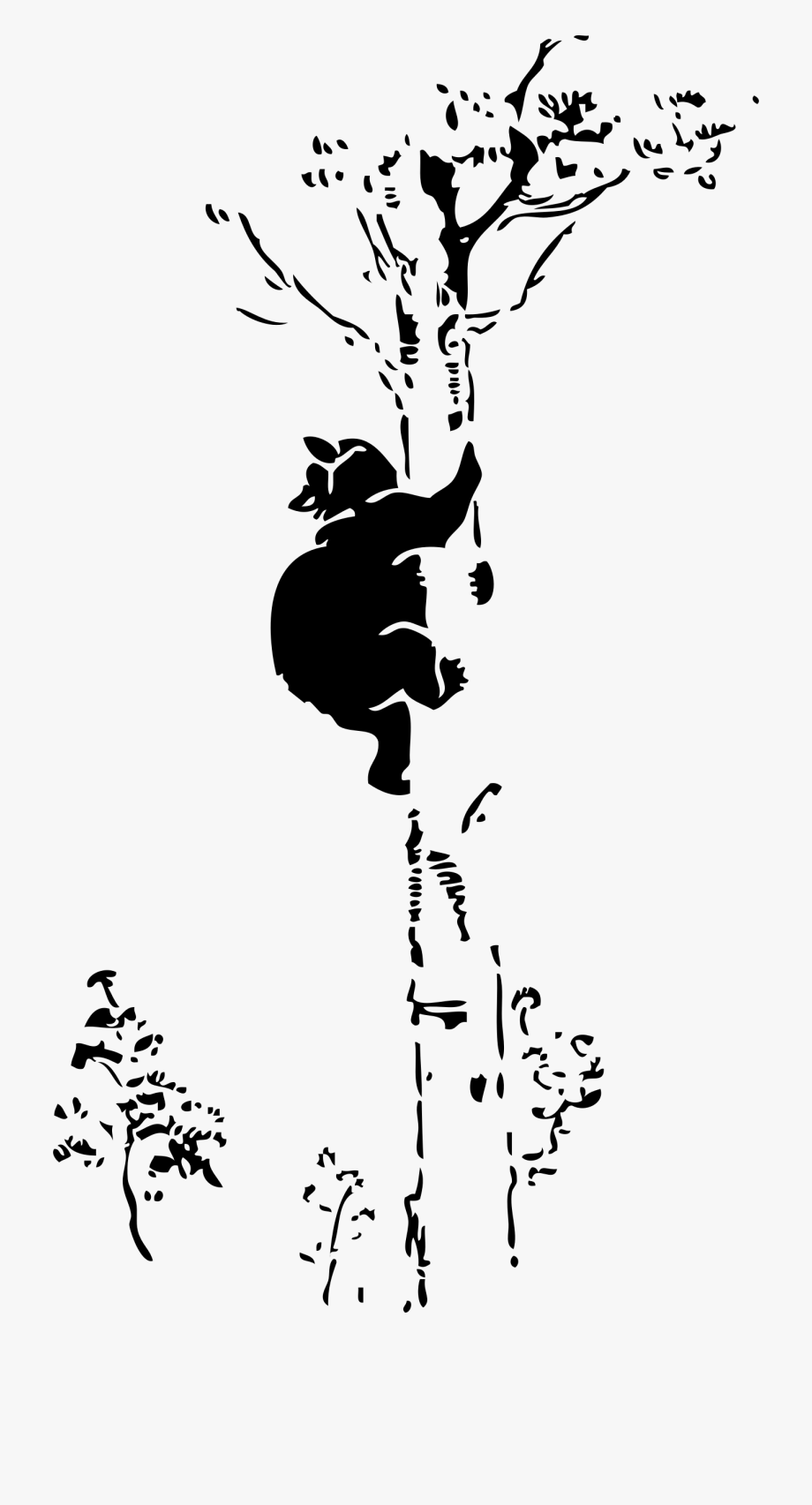 Bear in a tree clipart clipart stock Cat In Tree Clip Art - Bear Climbing Tree Silhouette #526954 - Free ... clipart stock