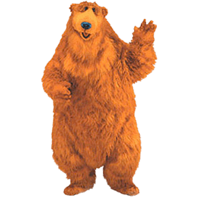 Bear in the big blue house clipart picture library library Bear In the Big Blue House Waving transparent PNG - StickPNG picture library library