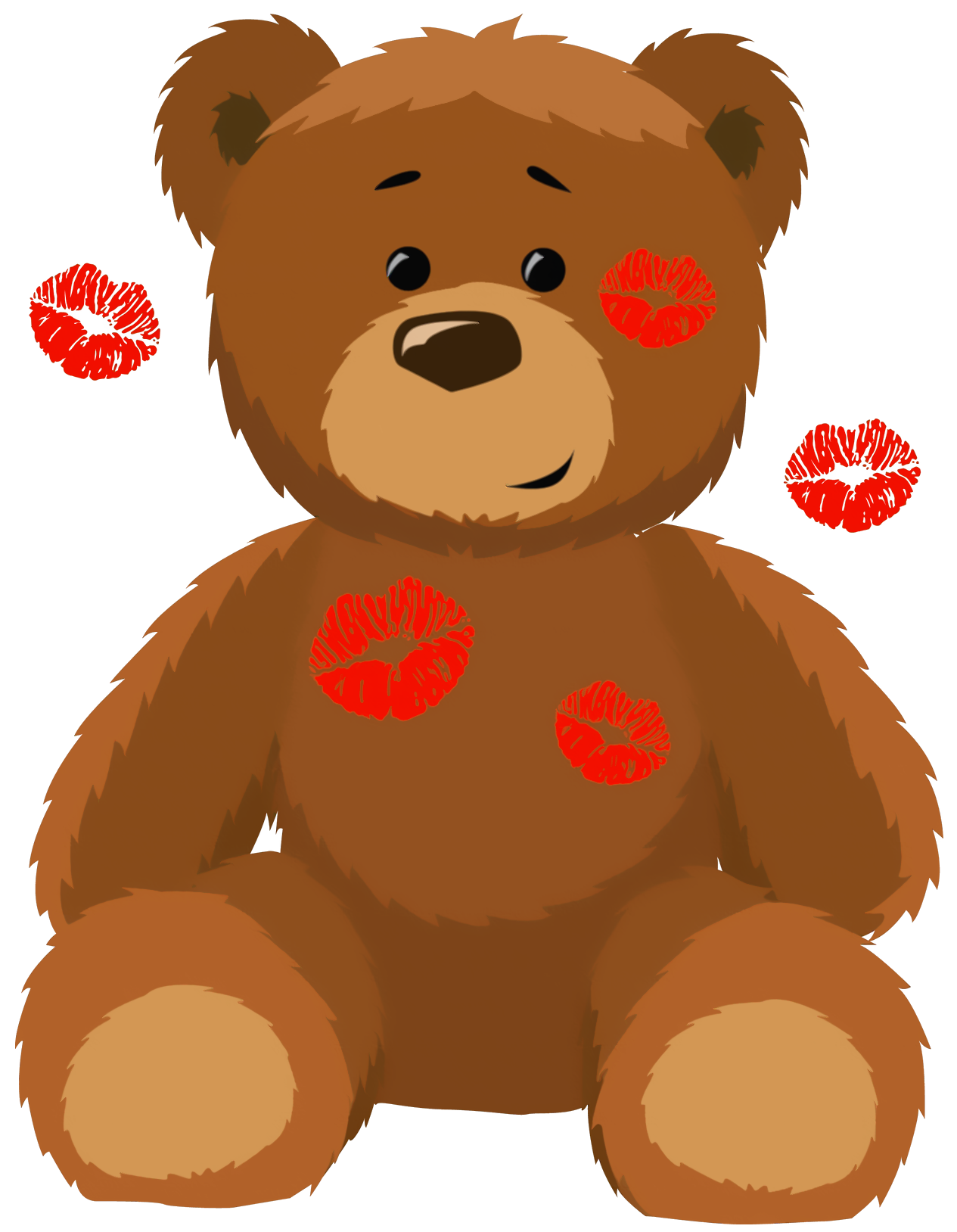 Valentine bear clipart banner free Cute Bear with Kisses PNG Clipart Picture | Gallery Yopriceville ... banner free