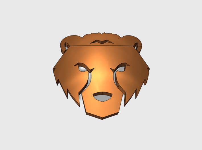 Bear looking over shoulder clipart png 60x Bear Face - Shoulder Insignia pack png