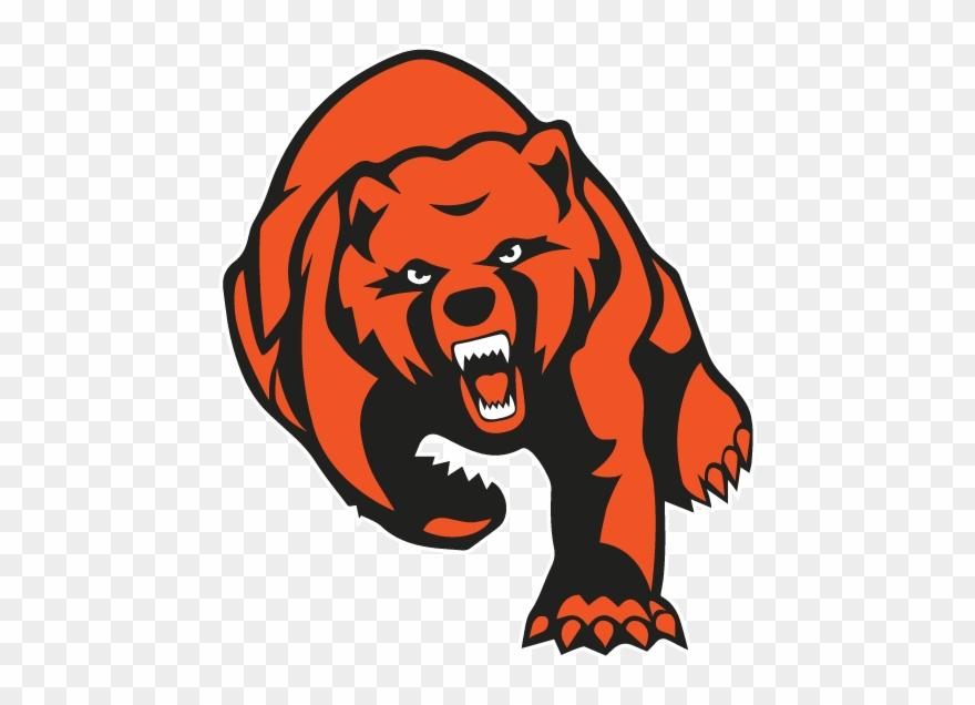 Bear mascot clipart image transparent stock Full Bear White Stroke - Bear Mascot Logo Png Clipart (#1357420 ... image transparent stock