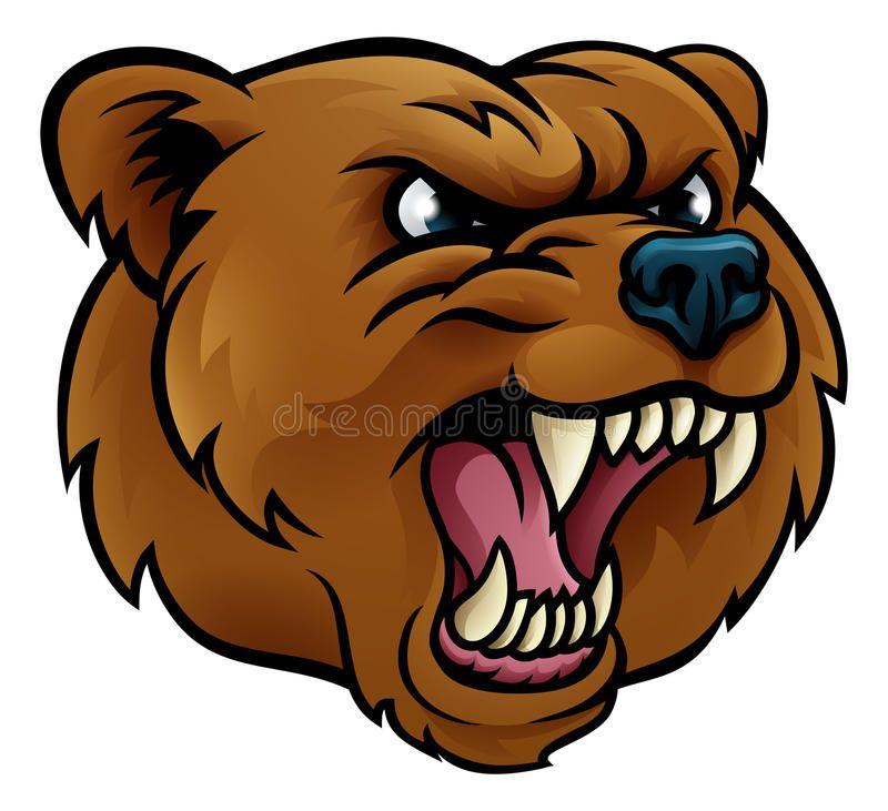 Bear mascot clipart vector black and white stock Bear Mascot Clipart - Priests.org.uk • | NCE | Bear cartoon, Bear ... vector black and white stock