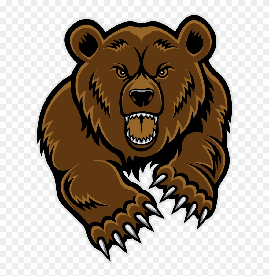 Bear mascot clipart image library Bear Mascot Clipart - Grizzly Bear Head Clip Art - Png Download ... image library