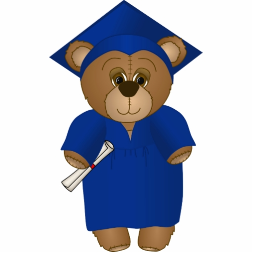 Bear running graduate clipart clip free cute_cartoon_graduate_teddy_ - Clip Art Library clip free