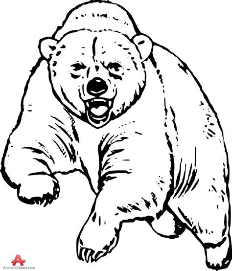 Bear running into truck clipart graphic library Grizzly bear free drawing patterns to trace | bears in 2019 | Bear ... graphic library