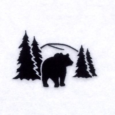 Bear scene clipart picture freeuse Bear Scene Silhouette | Great free clipart, silhouette, coloring ... picture freeuse
