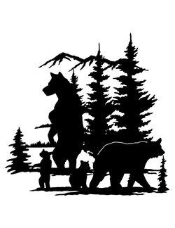 Bear scene clipart clip transparent download Bear Scene Silhouette | Great free clipart, silhouette, coloring ... clip transparent download