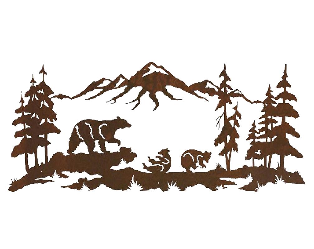 Bear scene clipart svg free Bear Family Scene 57 [WA_6001] - $389.00 : Bear Creek Gifts ... svg free