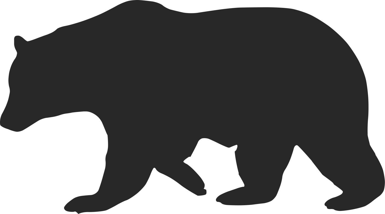 Bear silhouette clipart free clip library Free Black Bear Silhouette Pattern, Download Free Clip Art, Free ... clip library