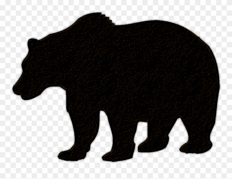 Bear silhouette clipart free image library Clip Royalty Free Library Black Bear Cub Clipart - Black Bear ... image library