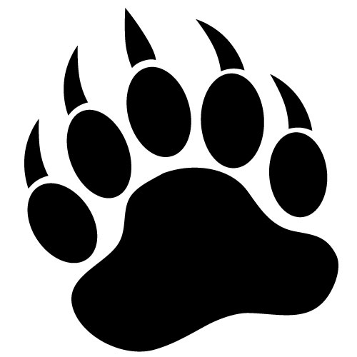 Bear tracks clipart banner black and white stock Free Bear Footprint, Download Free Clip Art, Free Clip Art on ... banner black and white stock
