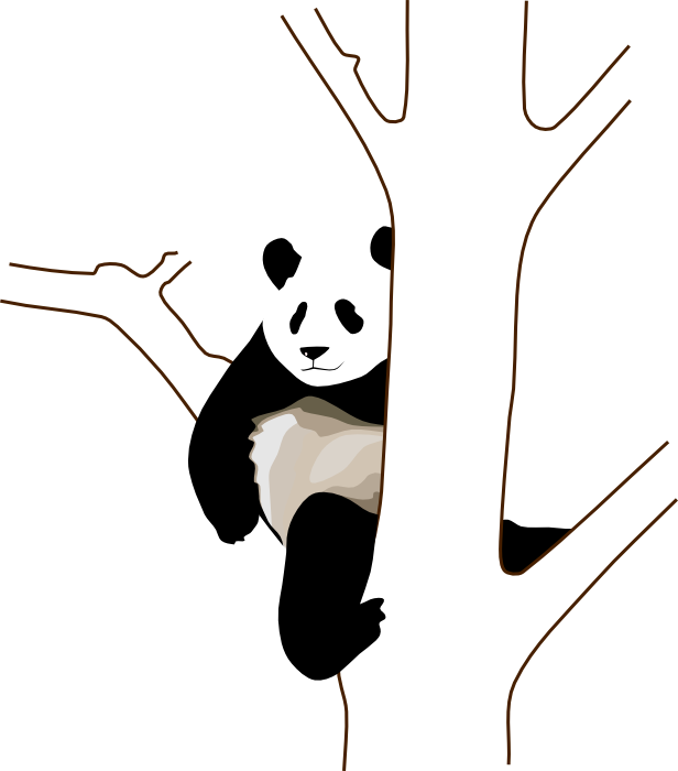 Bear tree clipart vector transparent stock Cute Panda Bear Clipart & Animations vector transparent stock