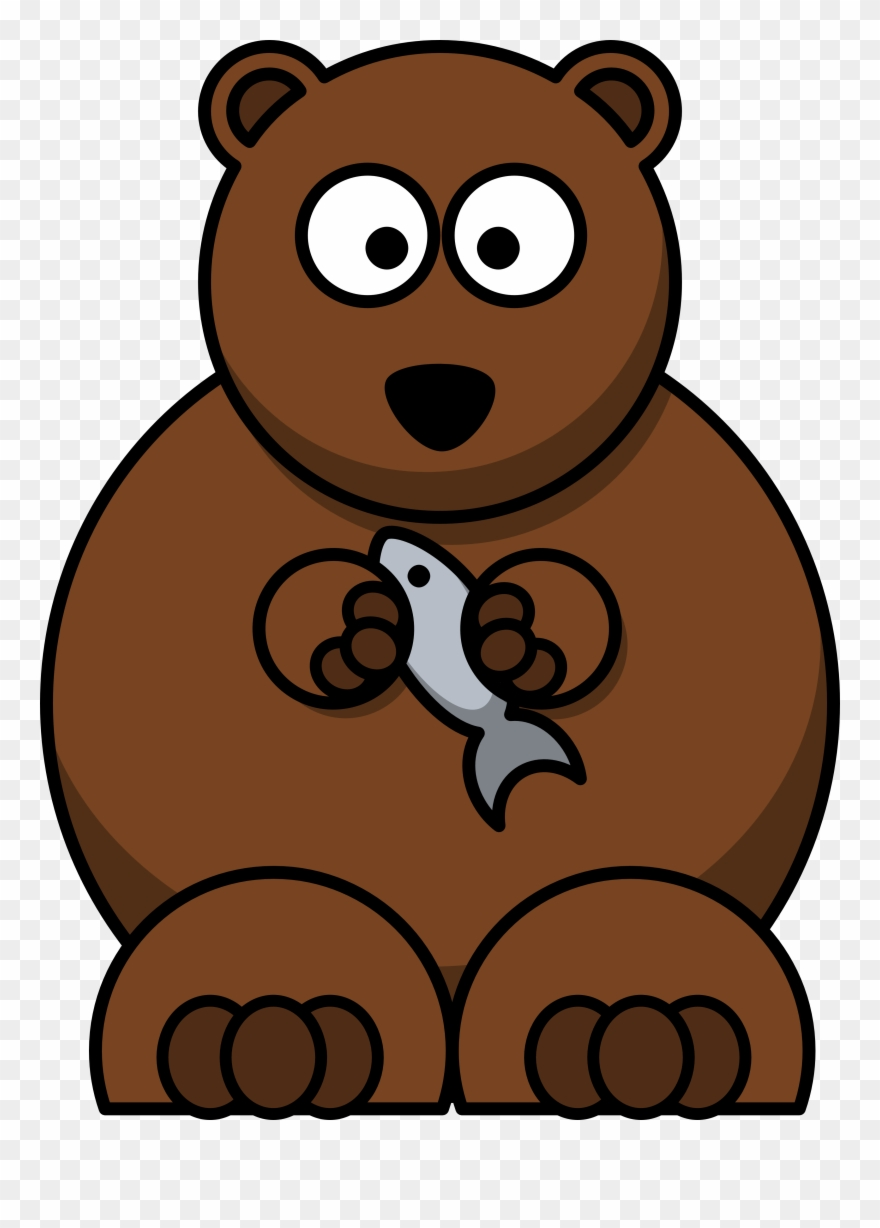 Bears eat fish clipart graphic free download Images For Brown Bear Cartoon Images - Cartoon Bear With Fish ... graphic free download