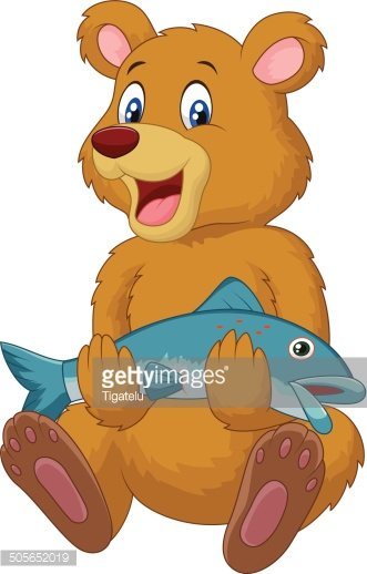 Bear with a fish clipart picture freeuse library Cute Bear Holding Salmon Fish premium clipart - ClipartLogo.com picture freeuse library