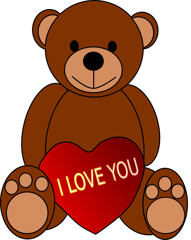 Bear with a heart clipart image library download Clipart - Valentine's Day Teddy Bear image library download