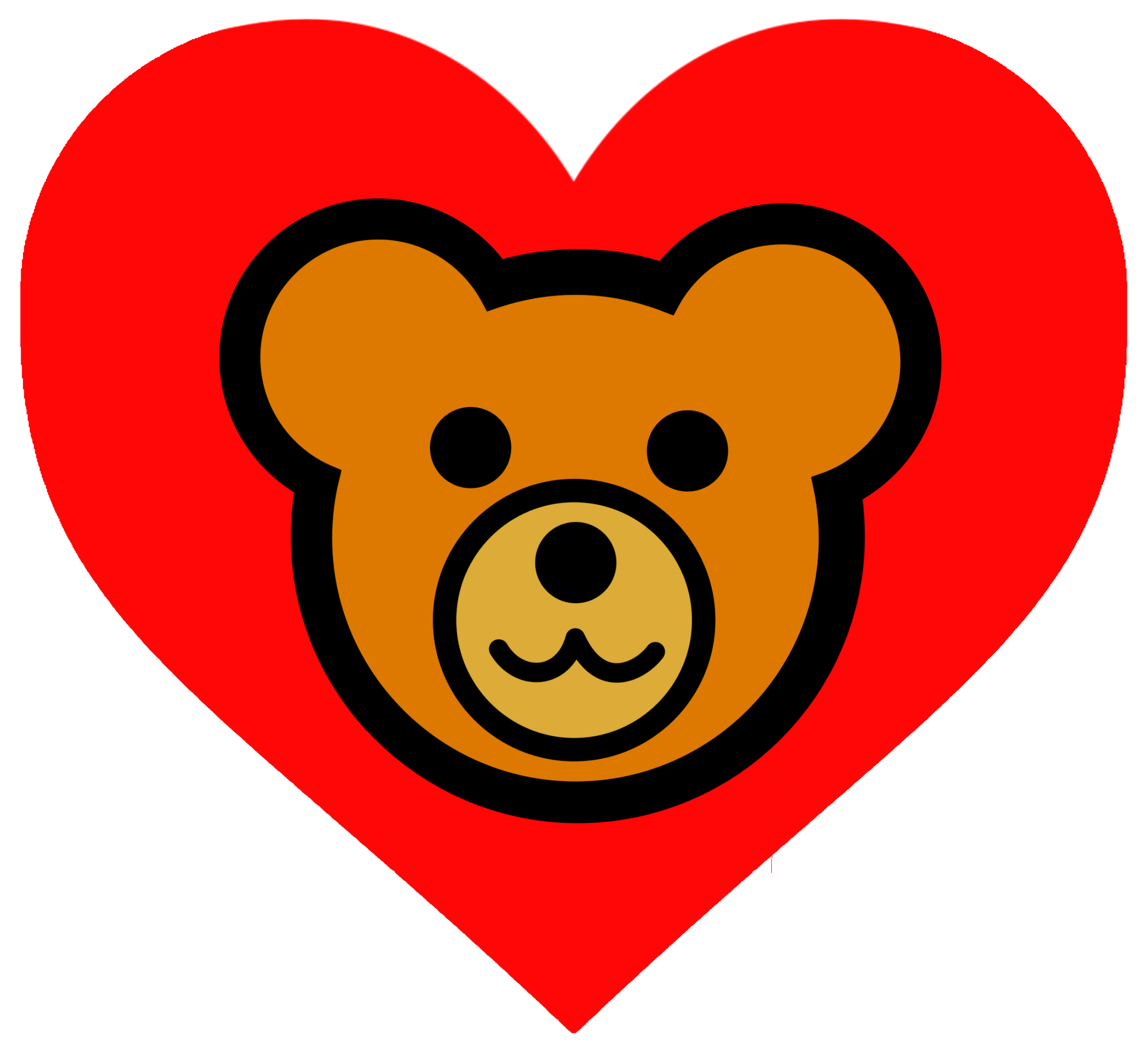 Clipart teddy bear with heart clipart royalty free download Clipart - Teddy Bear Head in Heart v1 Remix clipart royalty free download