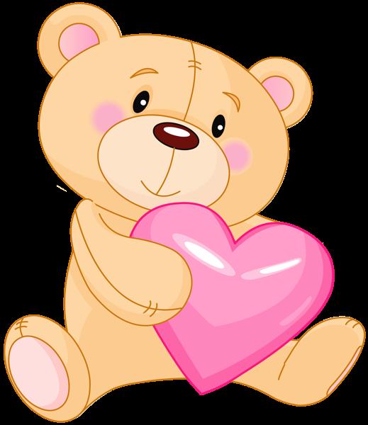Clipart teddy bear with heart vector freeuse Bear clip art teddy bears paradise 2 clipartbold | Clip Art ... vector freeuse
