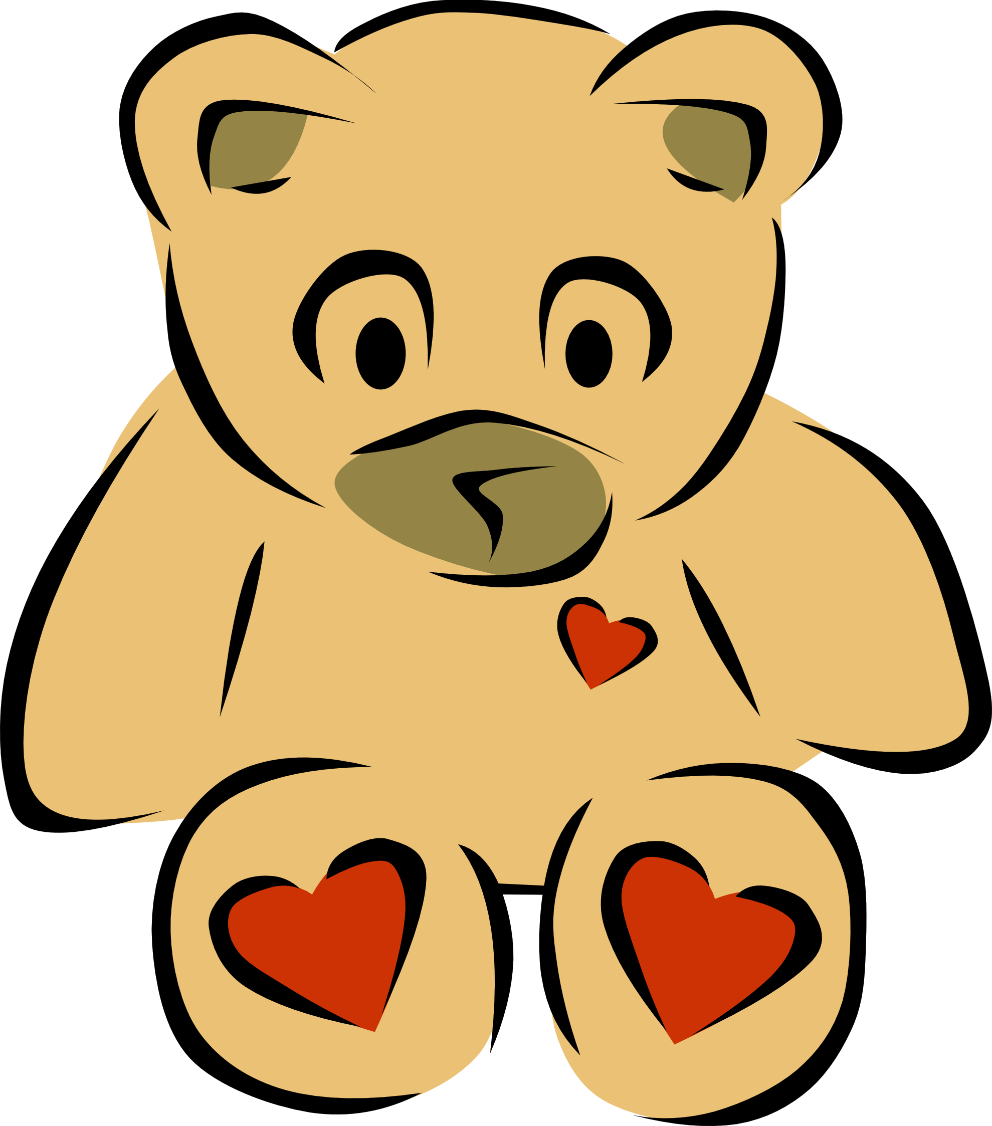 Bear with blue heart clipart image freeuse library Clip Art Bear Heart 2 | Clipart Panda - Free Clipart Images image freeuse library