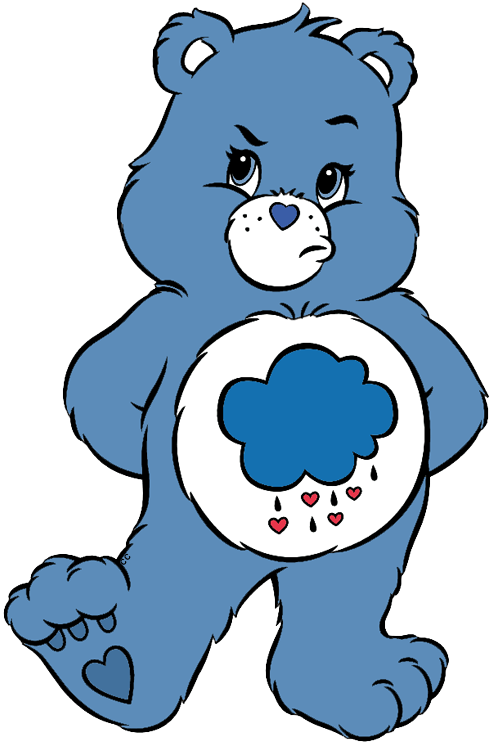Bear with blue heart clipart clip art black and white download Care Bears and Cousins Clip Art | Cartoon Clip Art clip art black and white download