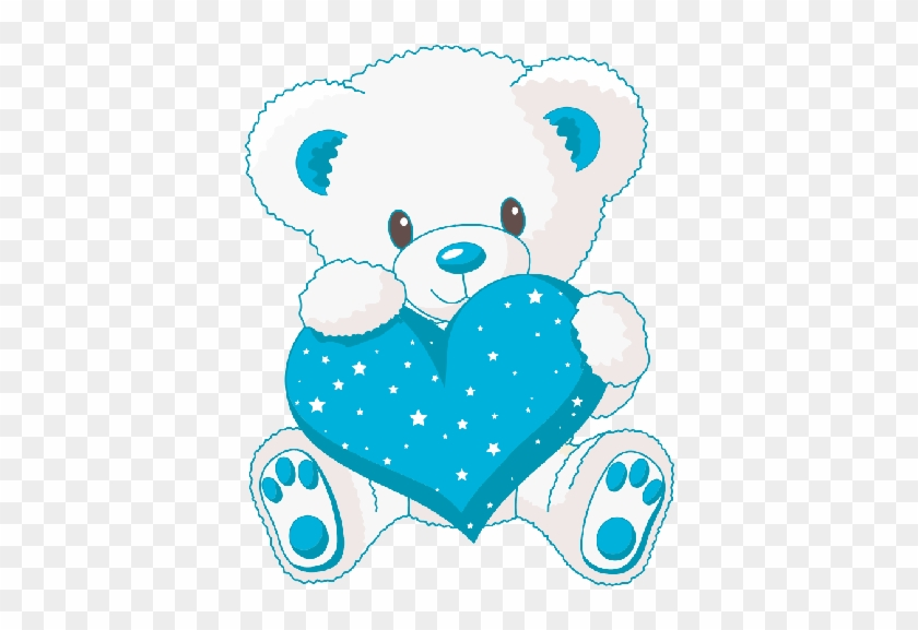 Bear with blue heart clipart svg freeuse Cute White Baby Bear With Blue Love Heart - Cute Teddy Bears With ... svg freeuse