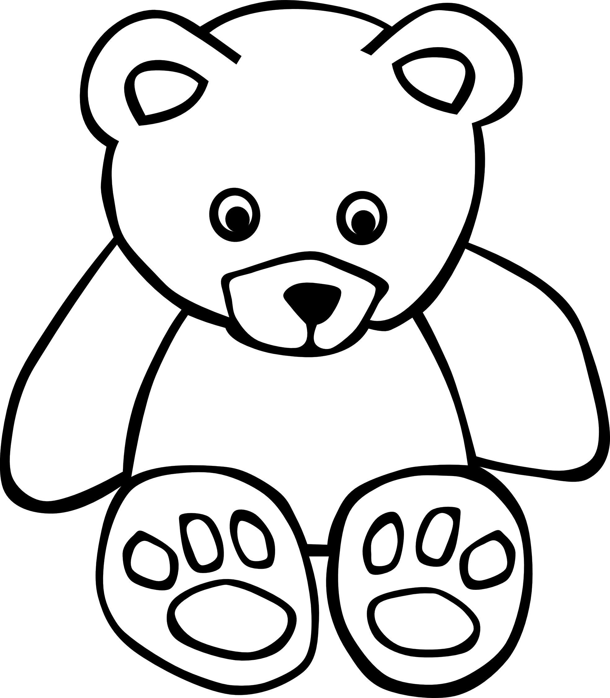 Sun over valley clipart black and white picture transparent stock 1271715 83 bear black white line art teddy bear ... - ClipArt Best ... picture transparent stock