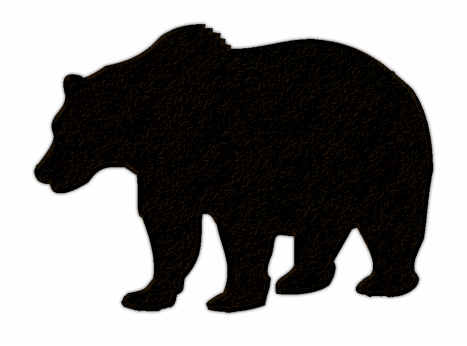 Bear with cub clipart silhouette picture free stock Clip Royalty Free Library Black Bear Cub Clipart - Bear Silhouette ... picture free stock