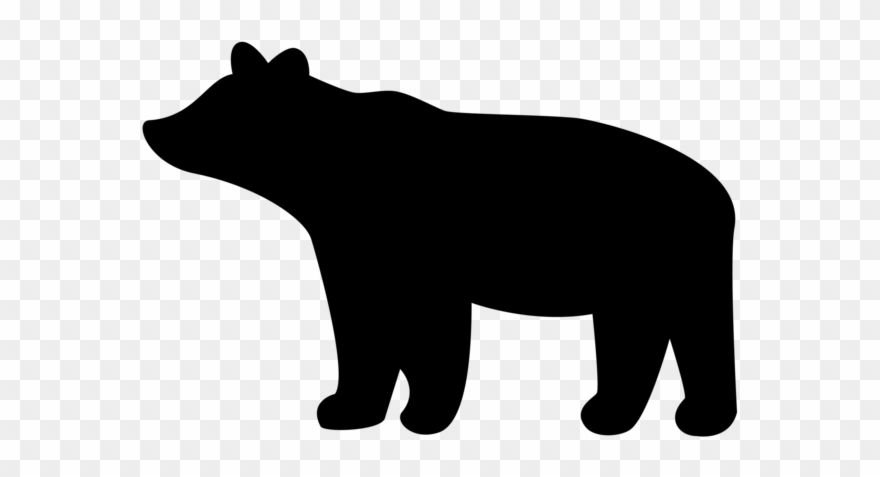 Bear with cub clipart silhouette svg library download Download Jpg Transparent Download Encode To Base Png - Black Bear ... svg library download
