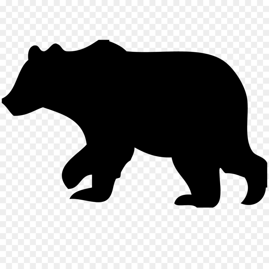 Bear with cub clipart silhouette picture free Free Bear And Cub Silhouette, Download Free Clip Art, Free Clip Art ... picture free
