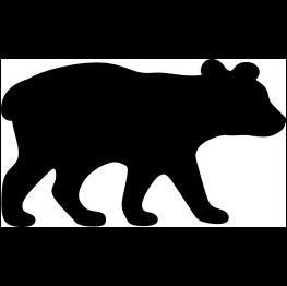 Bear with cub clipart silhouette image freeuse library Bear Cub Silhouette | Cricut | Bear cubs, Baby bear cub, Bear silhouette image freeuse library
