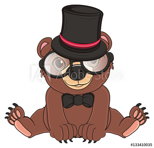 Bear with glasses honey clipart clipart download animal, bear, toy, cartoon, brown, grizzly, illustration, wood ... clipart download