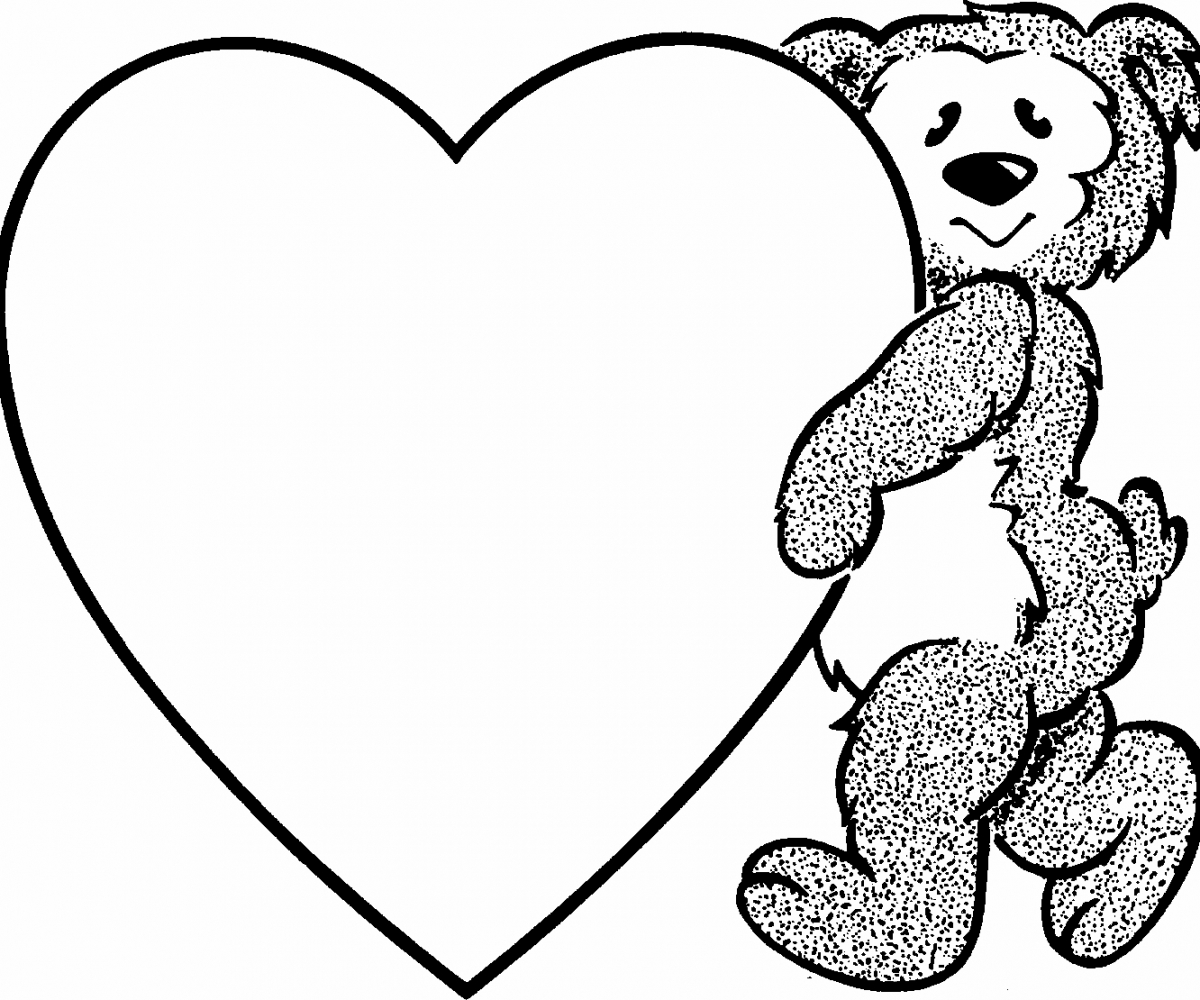 Bear with heart clipart black and white picture royalty free library Free Black And White Heart Clipart | Free download best Free Black ... picture royalty free library