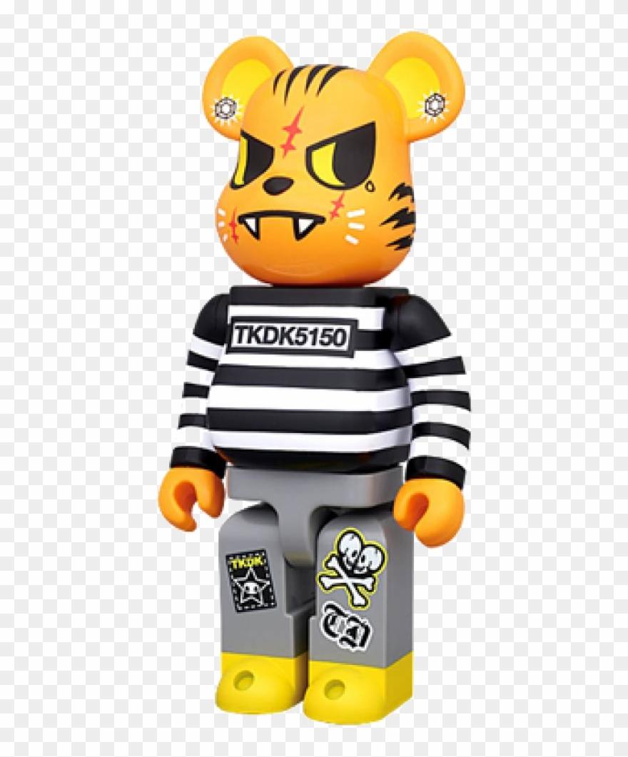 Bearbrick clipart picture black and white stock Bearbrick Tokidoki Tiger 400% Cartoon Styles, Designer Clipart ... picture black and white stock