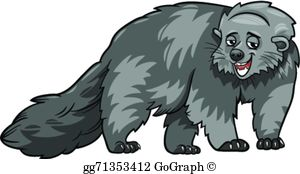 Bearcat clipart images banner black and white stock Bearcat Clip Art - Royalty Free - GoGraph banner black and white stock