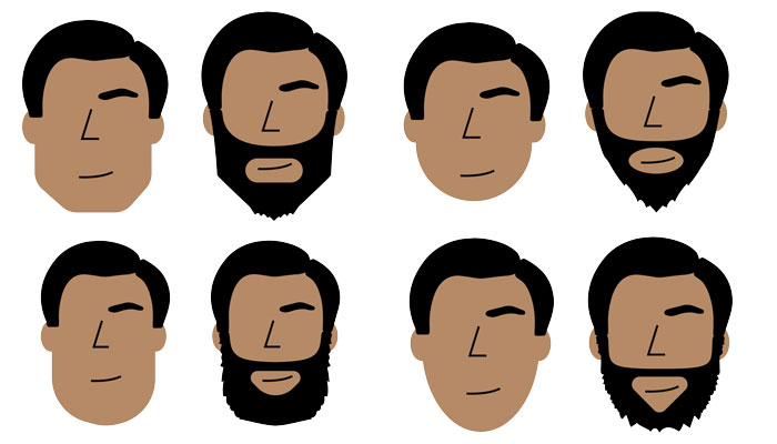 Beard baby face clipart clip royalty free How To: Find the Best Beard Style for Your Face Shape clip royalty free