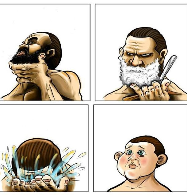 Beard baby face clipart clipart royalty free download Beard Shaving Comic Parodies | Know Your Meme clipart royalty free download
