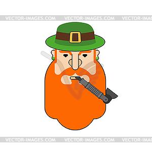 Beard clipart hipster hat png stock Leprechaun hipster face. Hat and beard. - vector clipart png stock