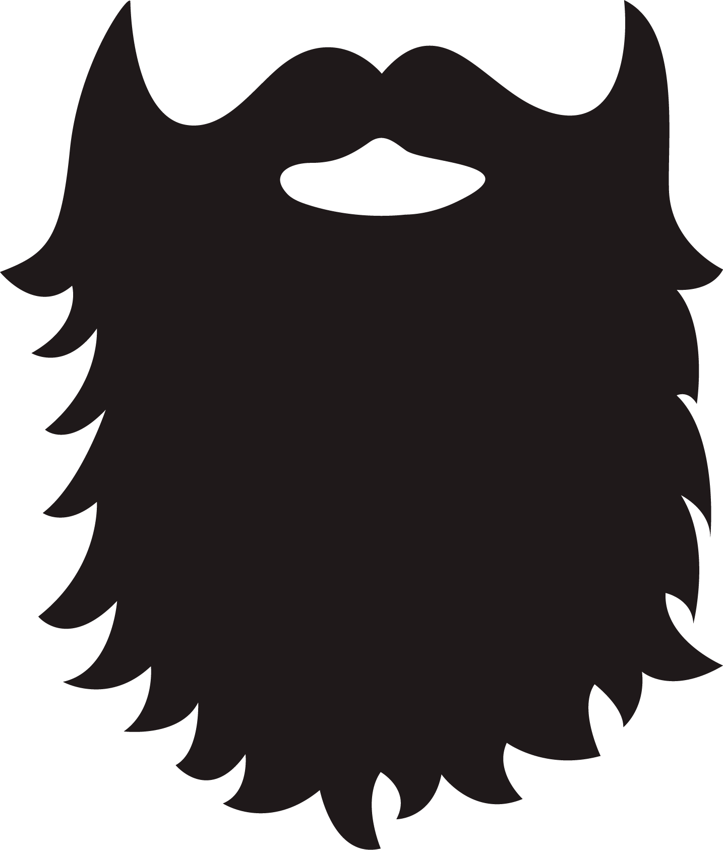 Light beard clipart