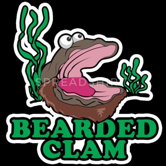 Bearded clam clipart funny banner transparent library Bearded Clam Men\'s T-Shirt | Spreadshirt banner transparent library
