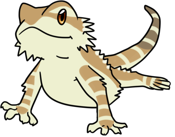 Bearded dragon clipart banner black and white Bearded dragon clipart clipart images gallery for free download ... banner black and white