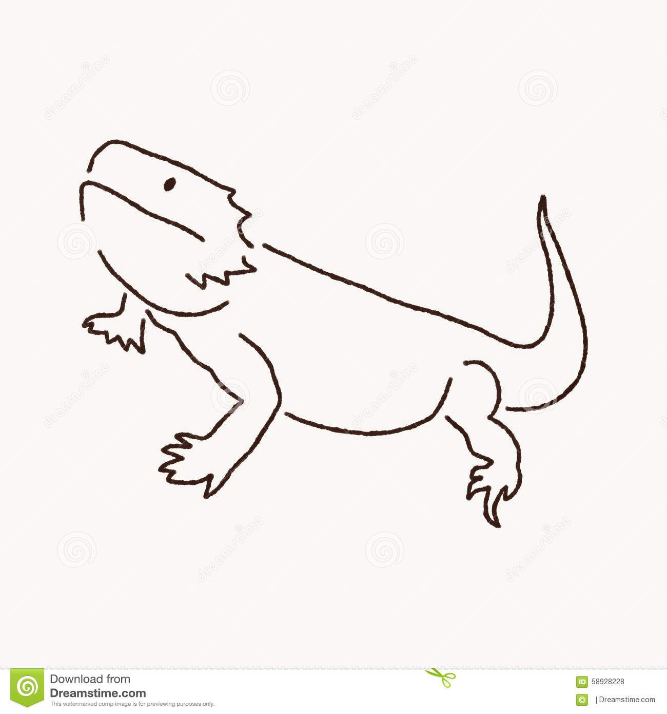 Library Of Bearded Dragon Picture Transparent Download Black And