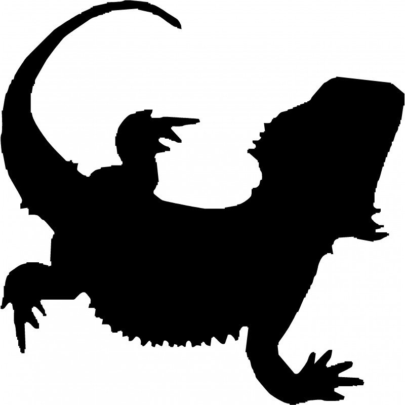 Bearded dragon silhouette clipart graphic library download Bearded Dragon Body Vinyl Sticker graphic library download