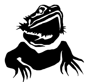 Bearded dragon silhouette clipart vector royalty free BuyCheapStickers.com. Bearded Dragon Portrait Decal / Sticker ... vector royalty free