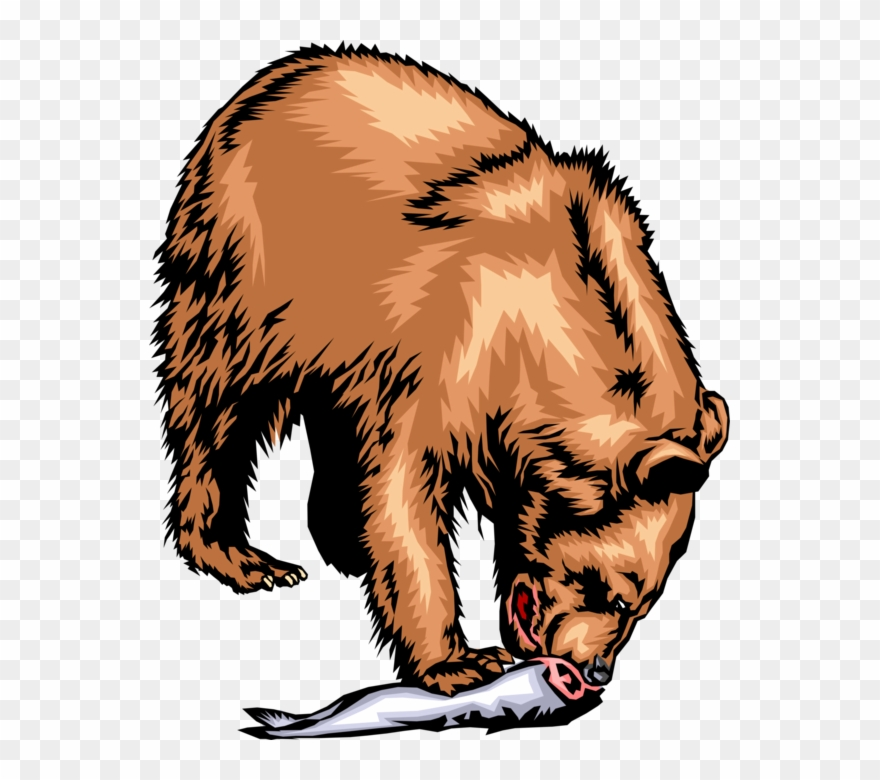 Bears eat fish clipart image royalty free stock Vector Illustration Of Brown Bear Eating Its Catch Clipart (#3017550 ... image royalty free stock