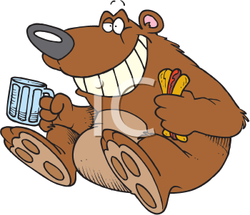 Bears eat fish clipart picture freeuse download iCLIPART - Royalty Free Clipart Image of a Bear Eating a Hotdog ... picture freeuse download