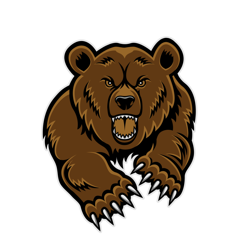 Football bear clipart clip transparent download Grizzly Bear Mascot Clipart Clipart Panda Free Clipart Images | sam ... clip transparent download