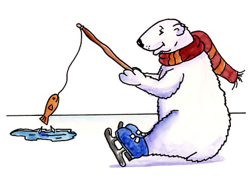 Bears ice fishing clipart png black and white stock 64 Free Polar Bear Clipart - Cliparting.com png black and white stock